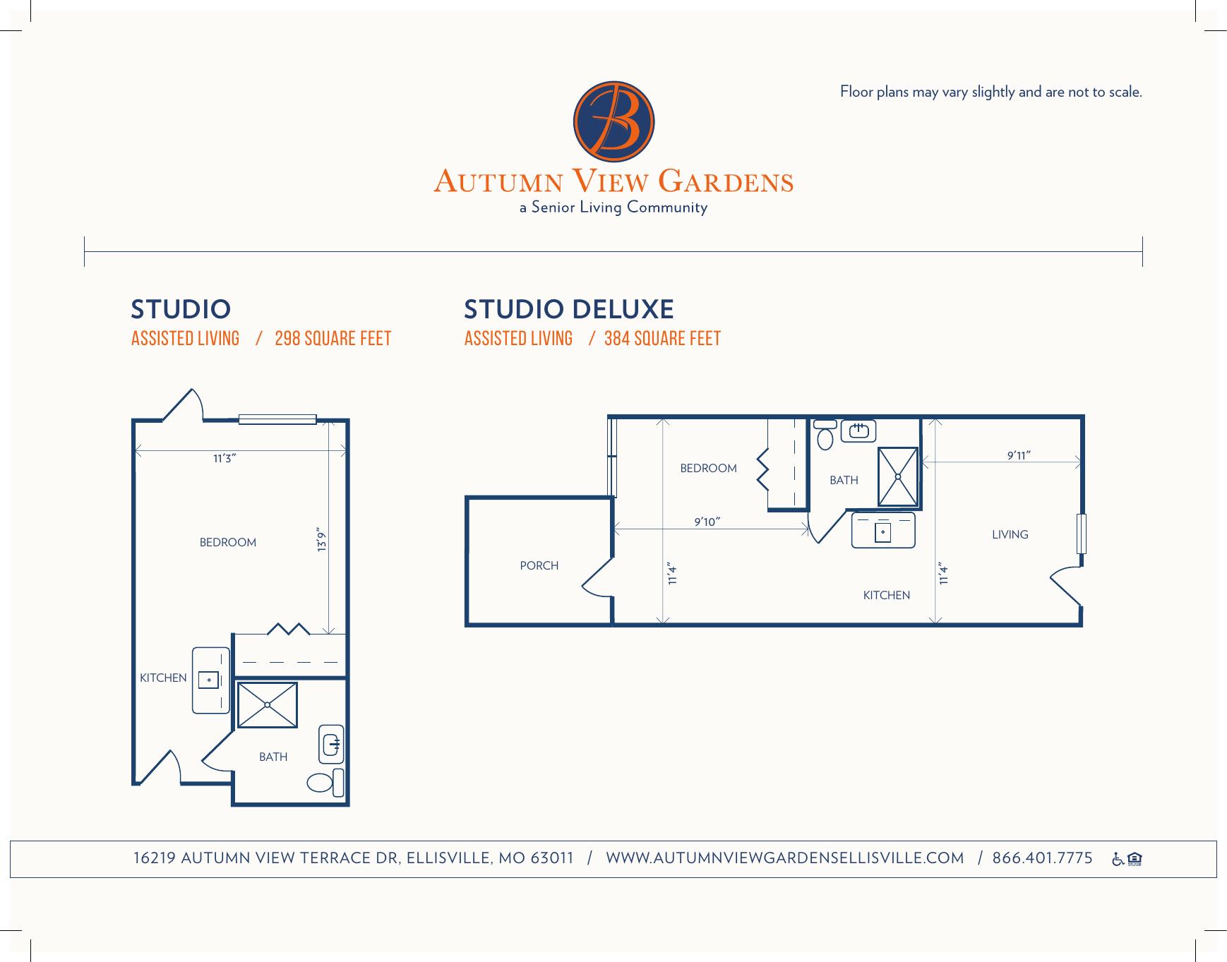 Autumn View Gardens Studio Duplex Floorplan