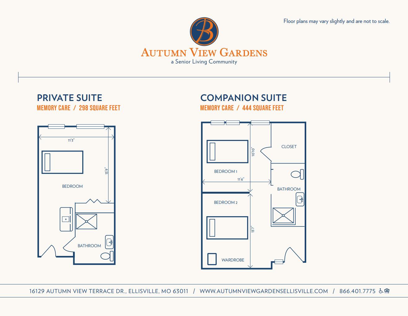 autumn view gardens memory care floor plans