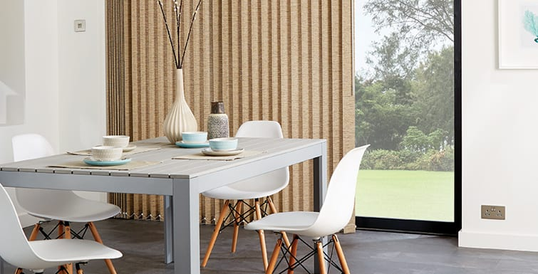 Vertical Blinds in dining room.