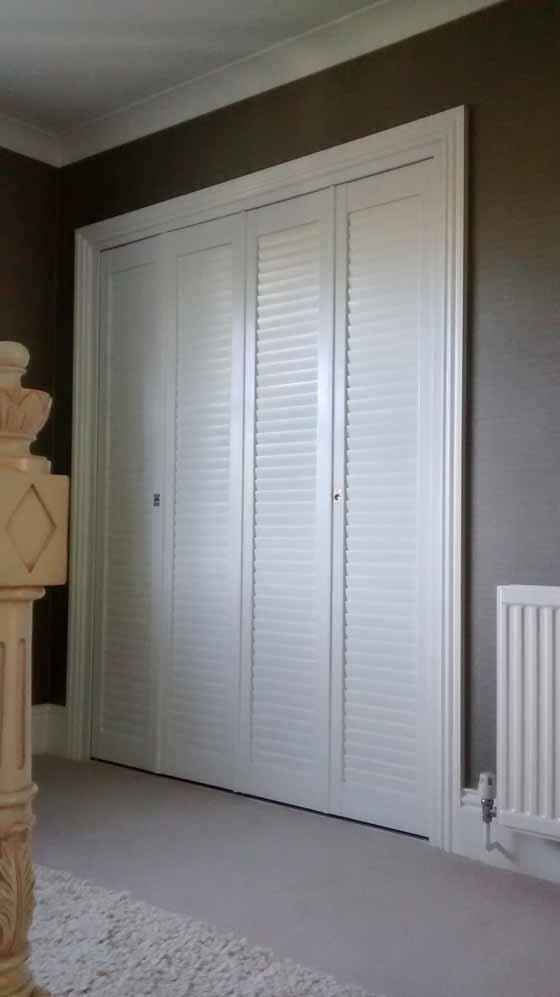 Wardrobe shutters.