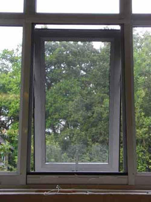 Flyscreen on window.