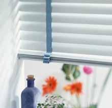 White Venetian blinds.
