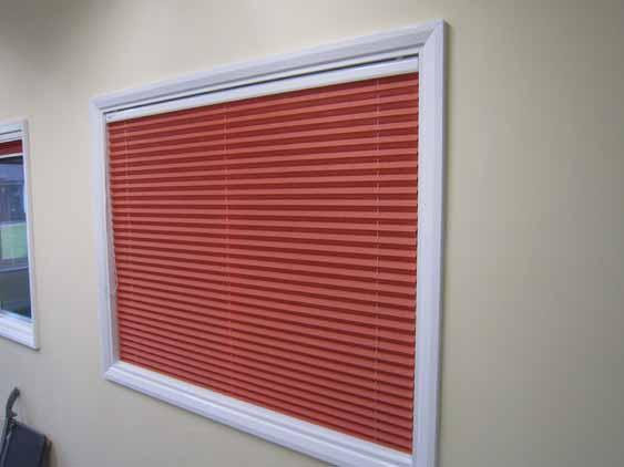 Free-Hanging blinds.