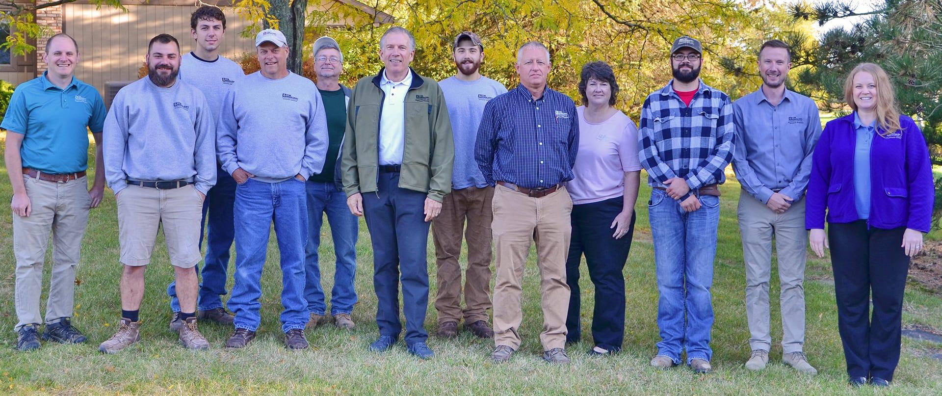 Company staff group photo
