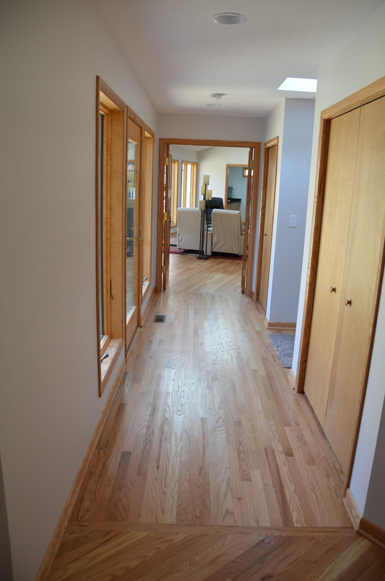 Hallway connecting existing house to addition