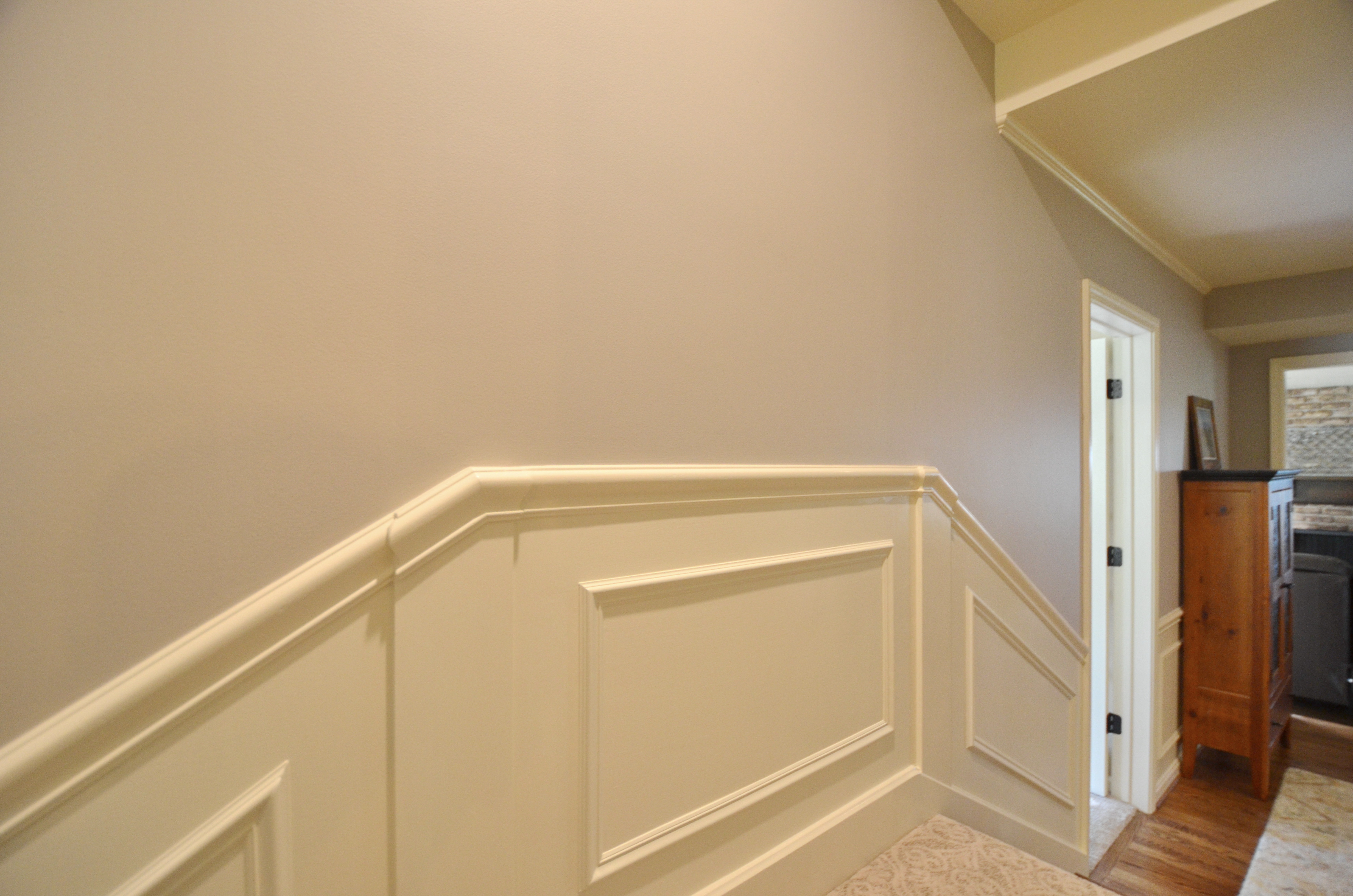 Wall molding added to match existing
