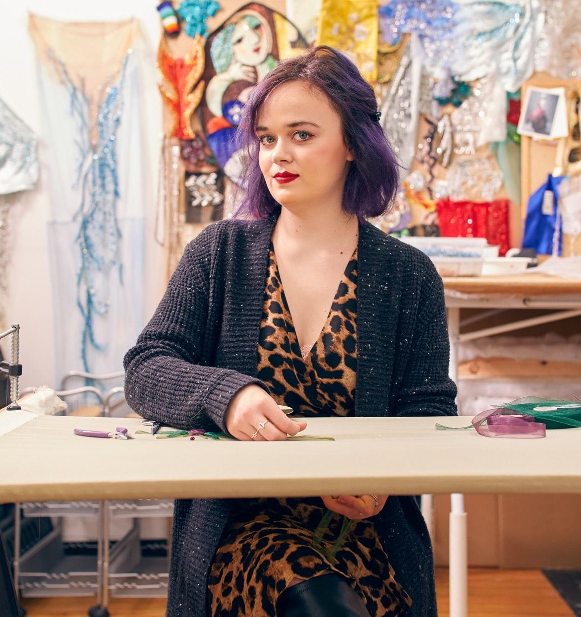 Employee in Eric Winterling's studio