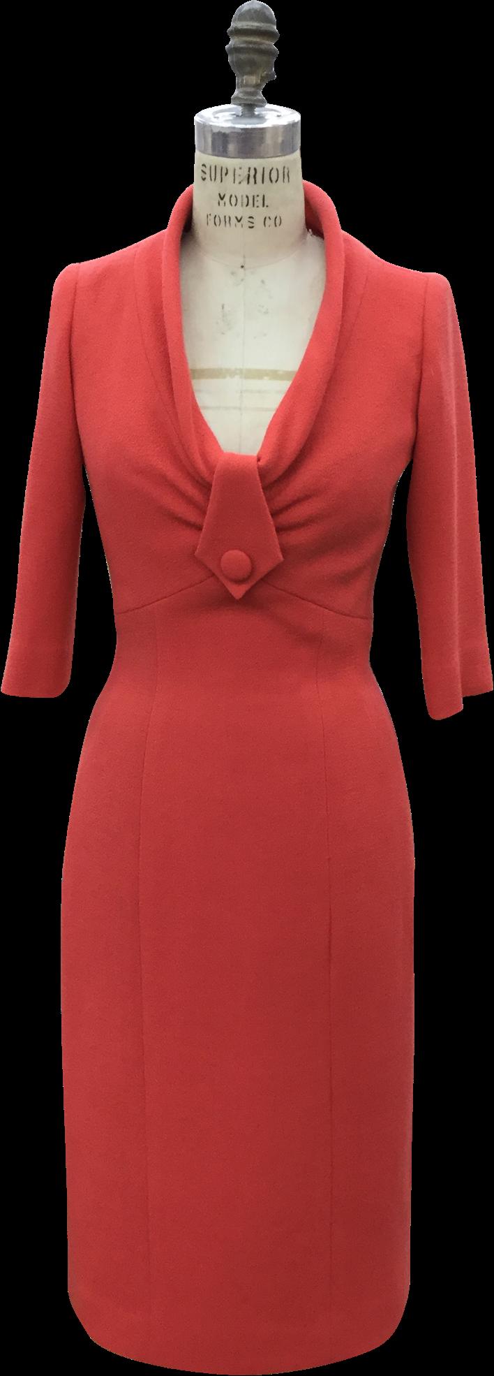 The Marvelous Mrs. Maisel red dress on mannequin