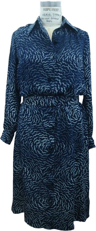 The Post blue dress on mannequin