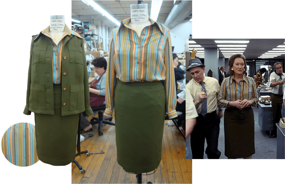 The Post green costume collage
