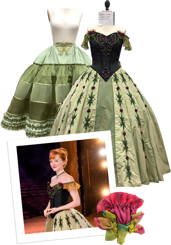 Frozen costume process collage