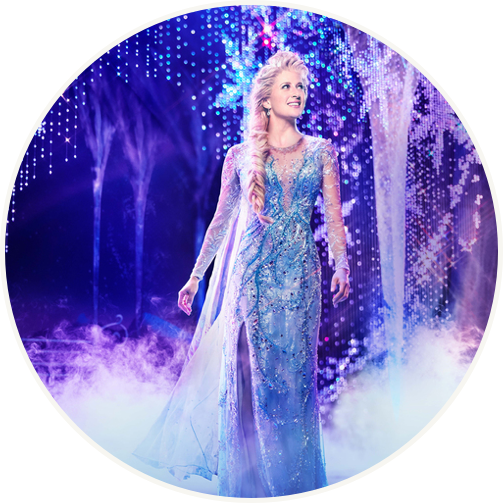 Frozen Elsa on stage in blue dress feature image