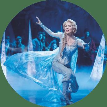 Frozen Elsa on stage in blue dress