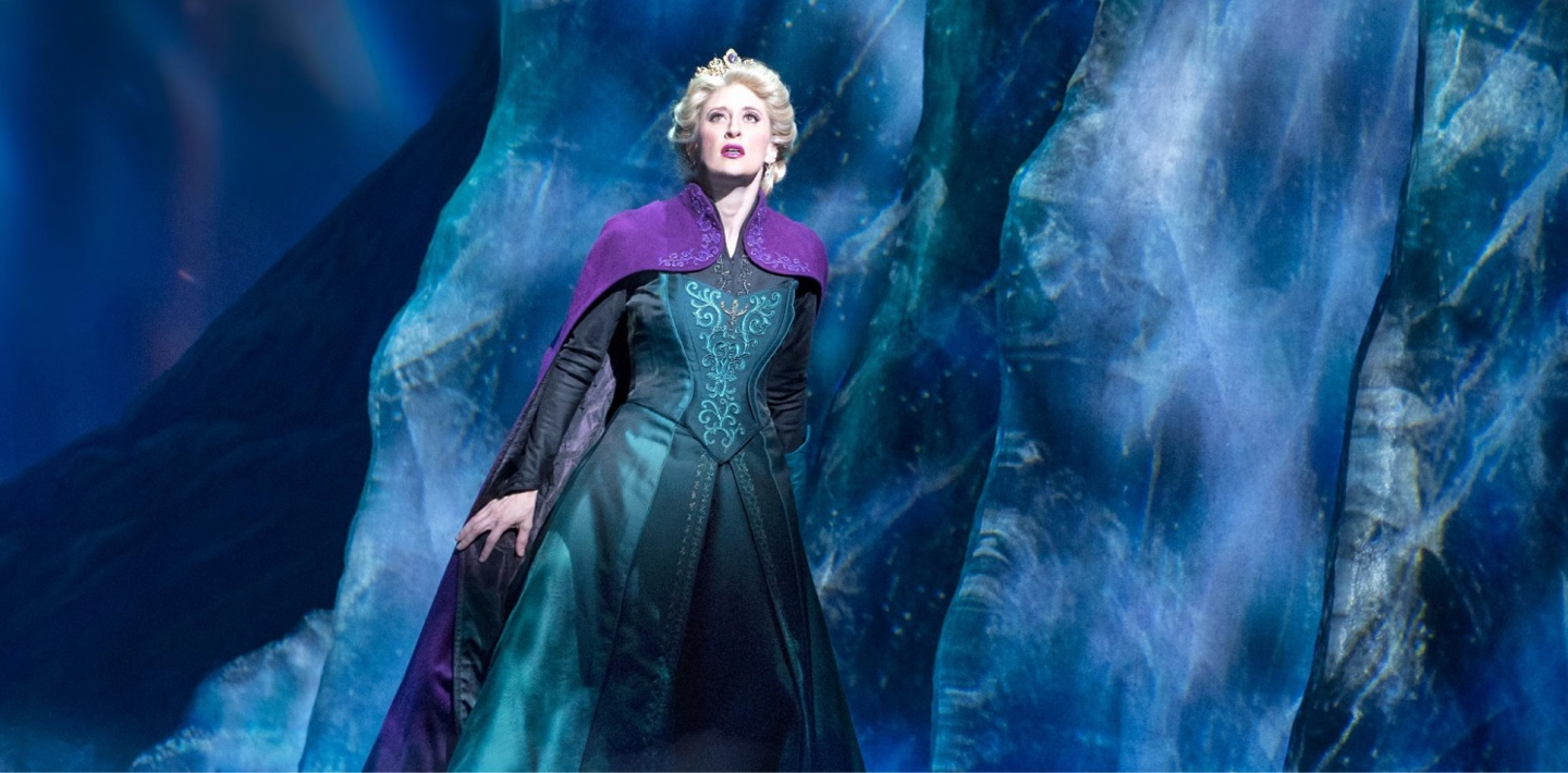 Frozen character on stage