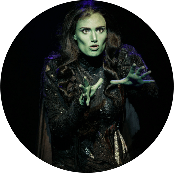 Wicked feature image witch on stage