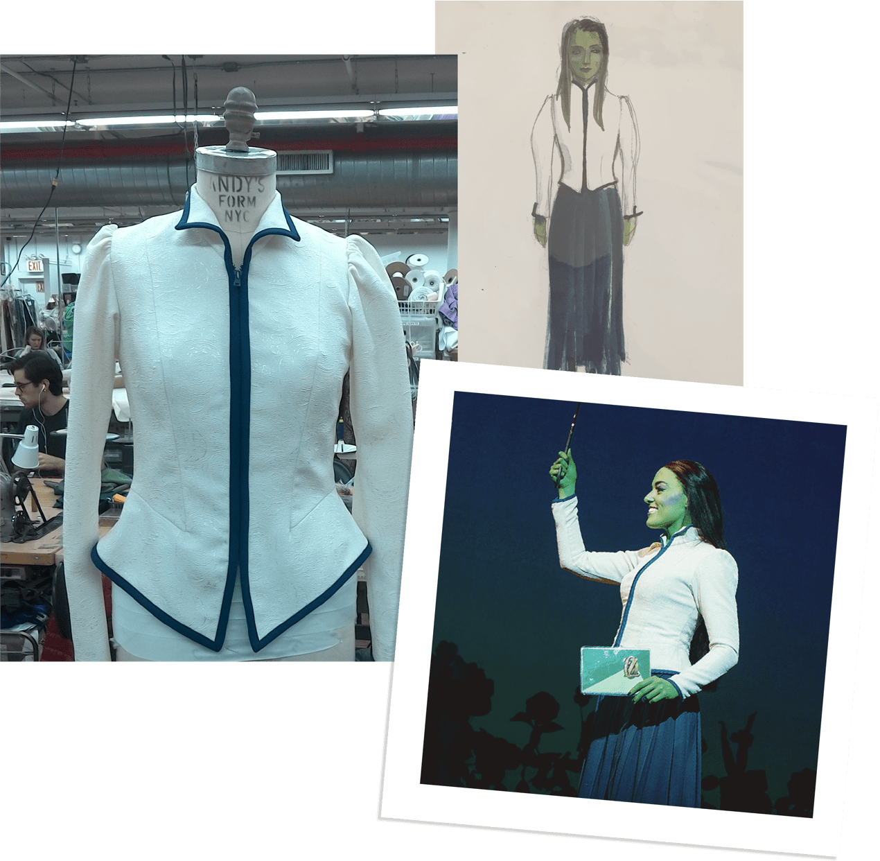 Wicked white jacket process collage
