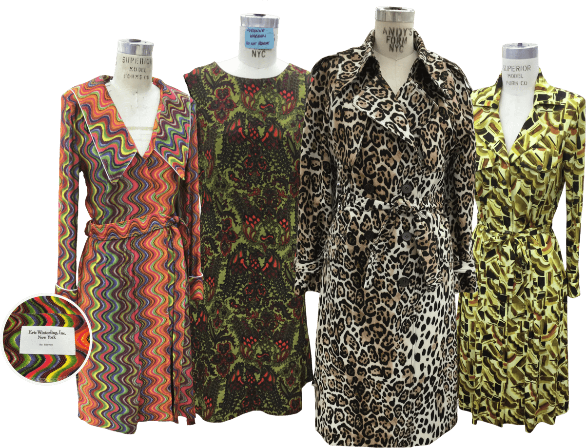 Tina 4 dresses on mannequins