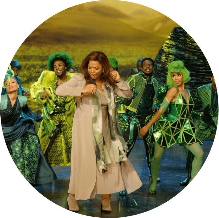 The Wiz Live feature image characters dancing on stage