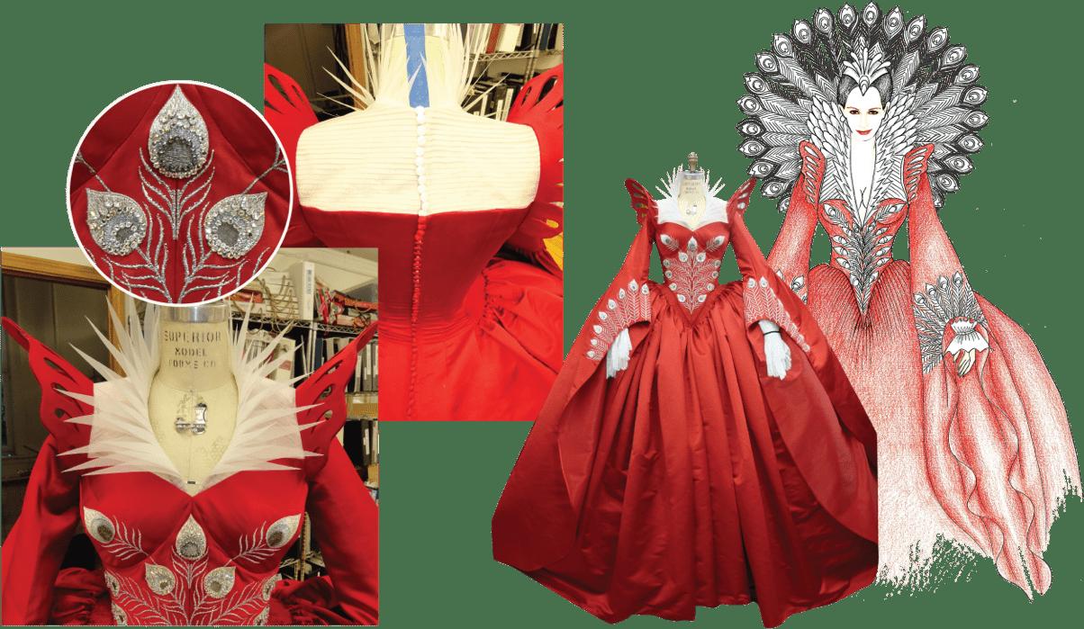Mirror Mirror red costume process collage