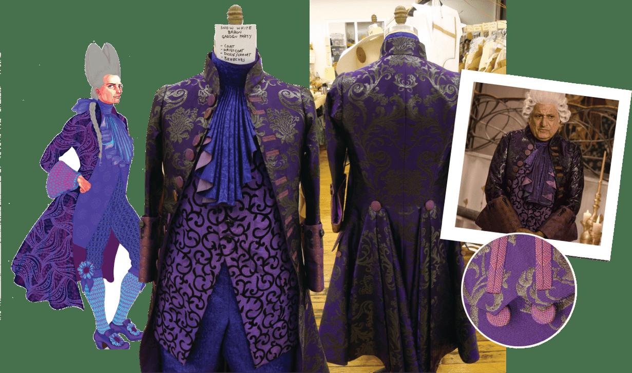 Mirror Mirror purple costume process collage