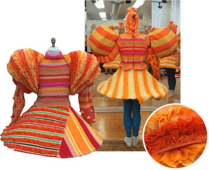 Spongebob orange costume collage