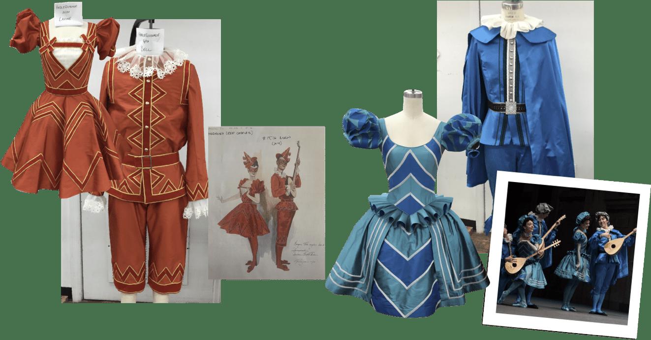 Harlequinade Costume collage