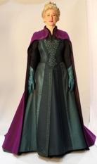 Woman wearing Frozen dress