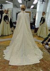 Frozen dress on mannequin (white before dye)