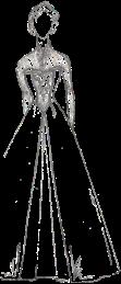 Sketch of Frozen dress concept