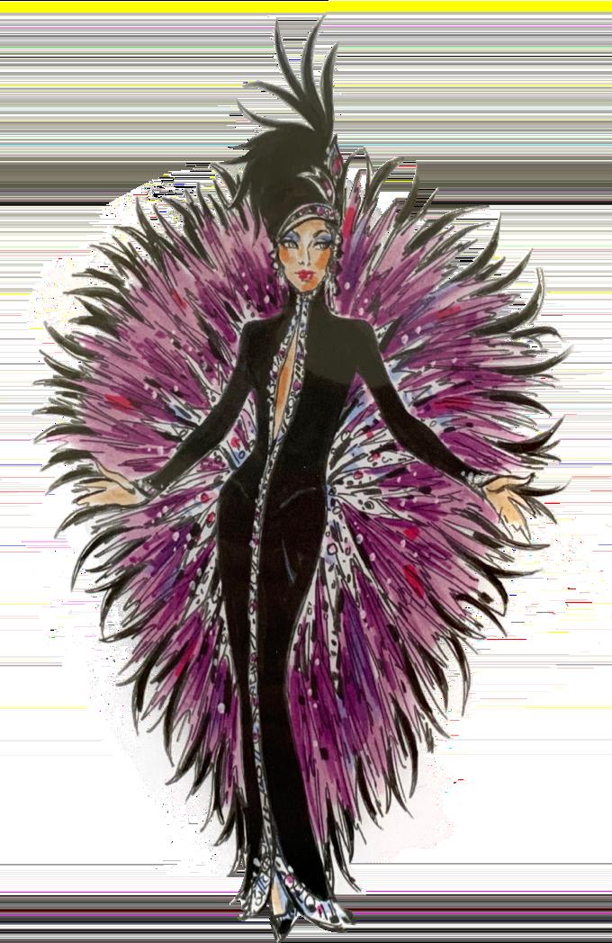 Cher costume sketch