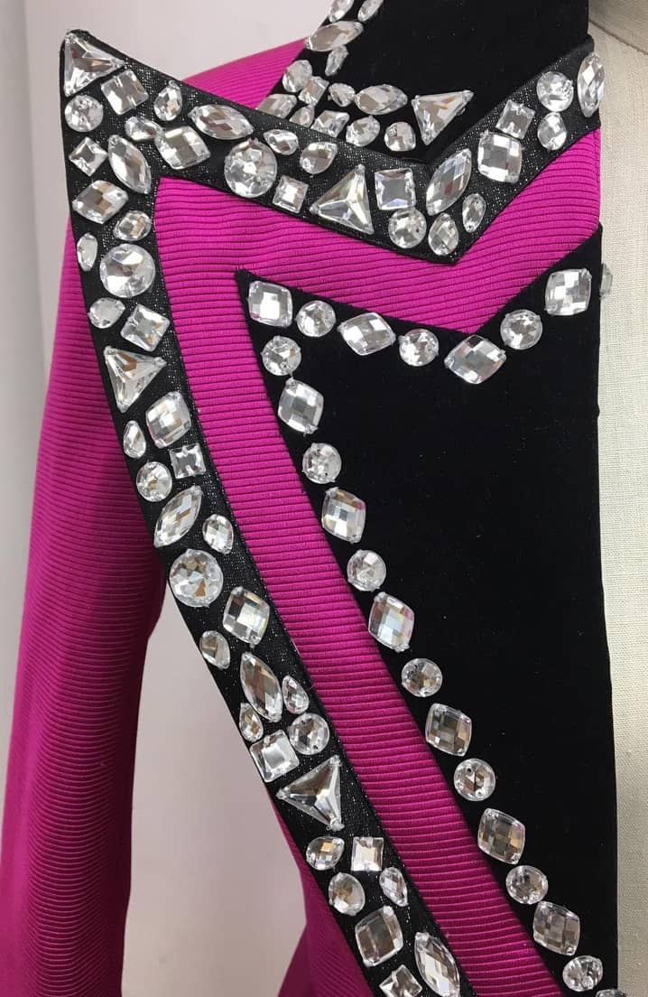 black and pink detail