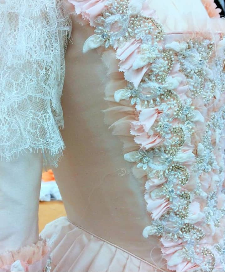 dainty pink detail