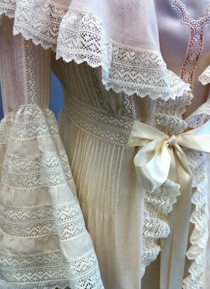 lace and ruffle detail