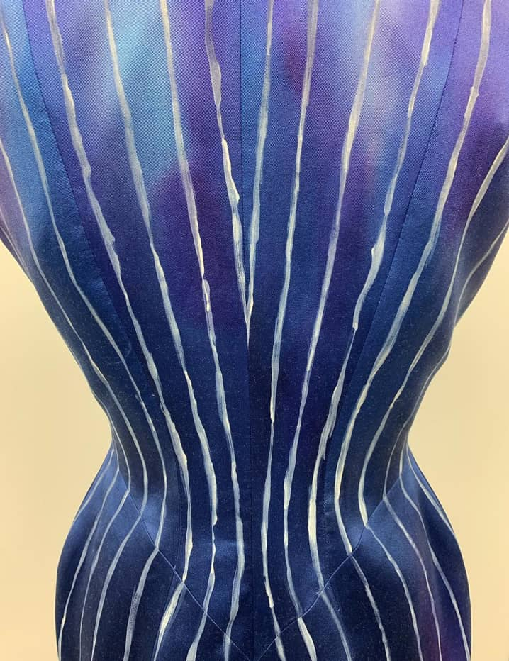 purple/blue bodice