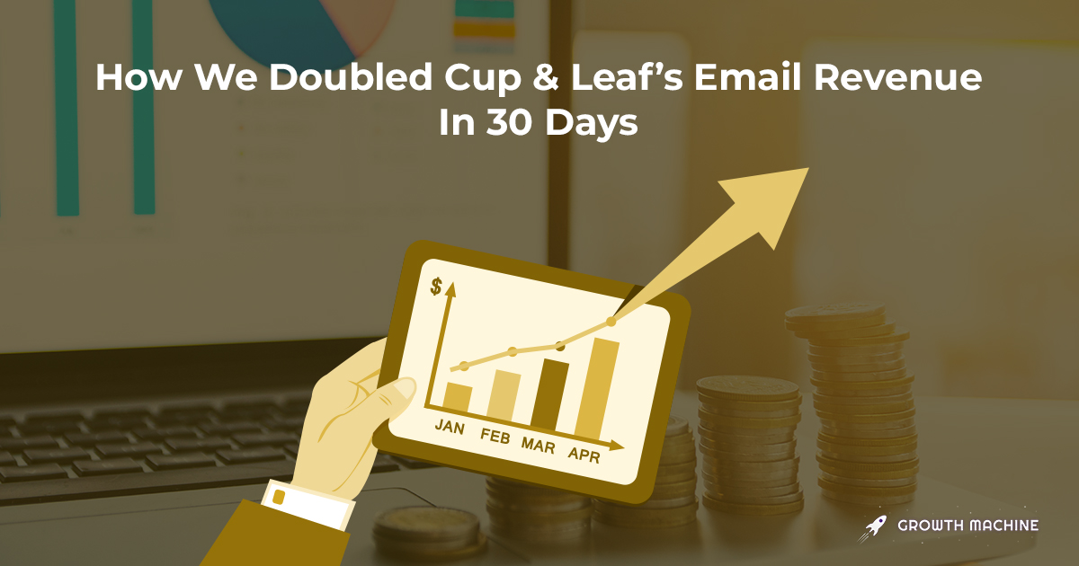 How We Doubled Cup & Leaf's  Email Revenue In 30 Days