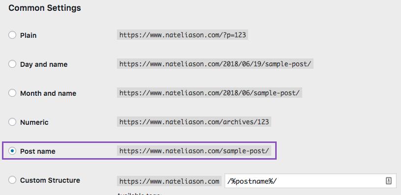 Wordpress change your article URL