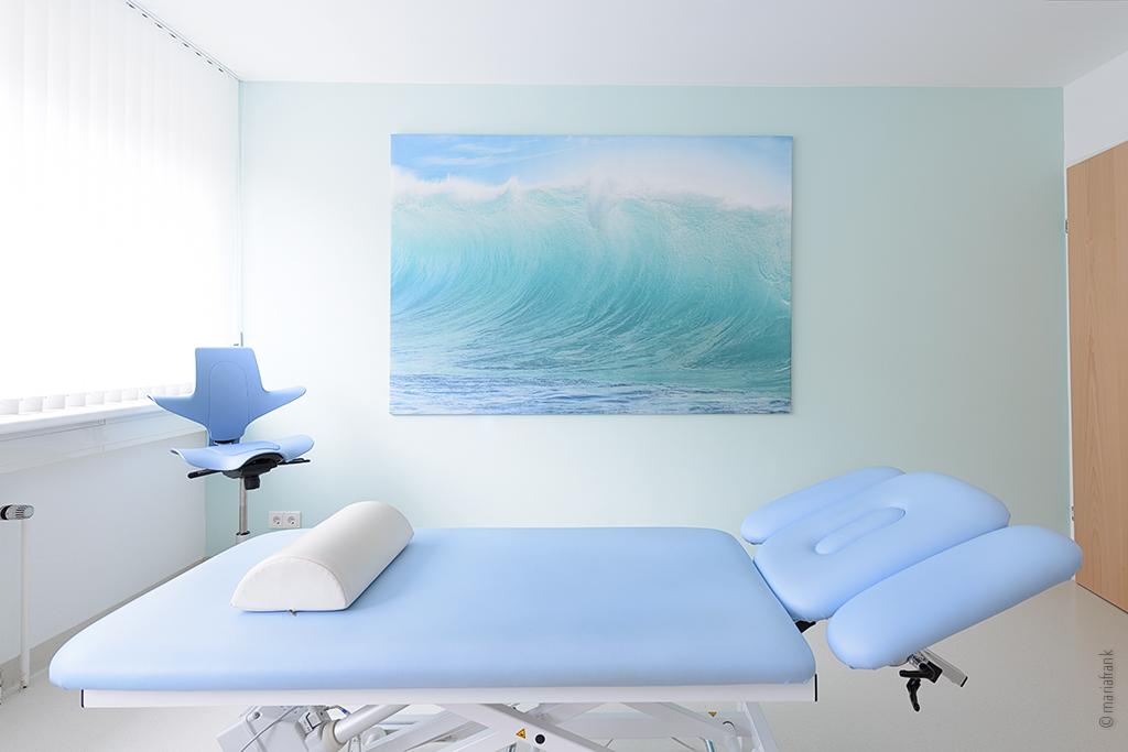 Arztpraxis mit Bett