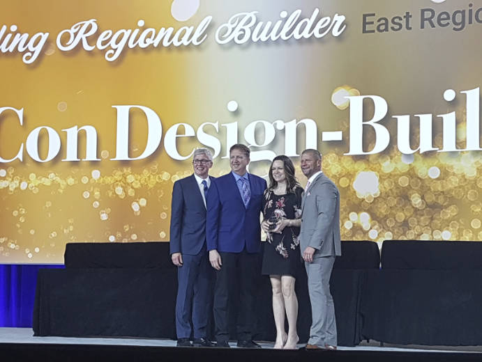 Michelle Stephens accepting award at Butler Regional Builder of the Year