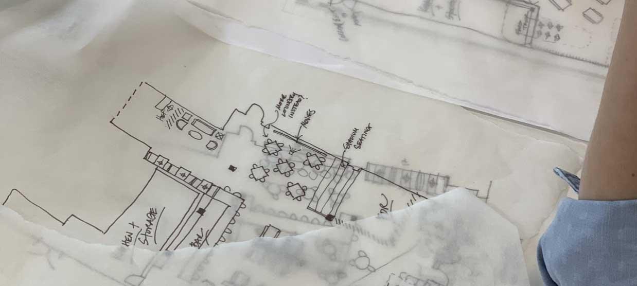 Detail of drafting illustration