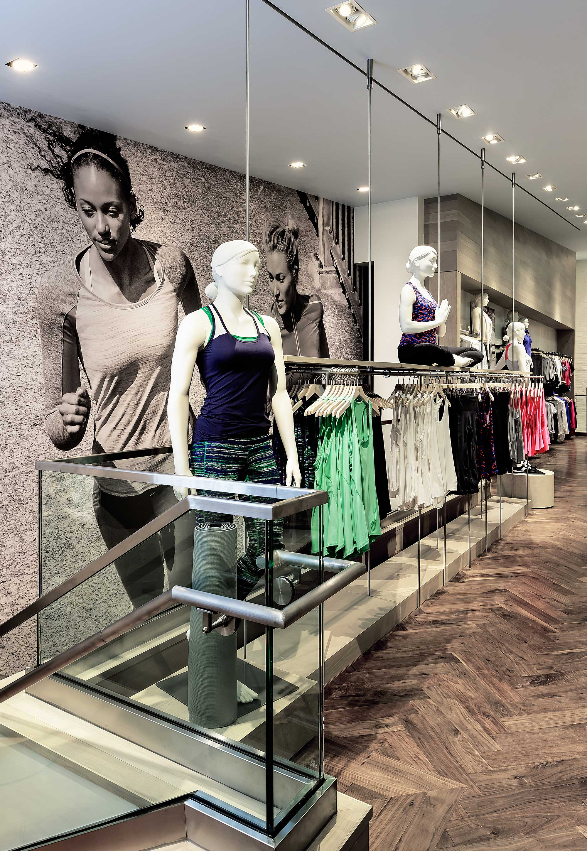 Workout clothes product display