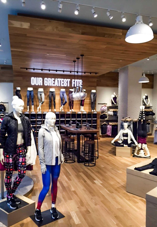 Sales display in Athleta stor