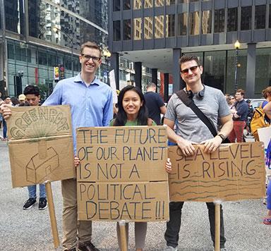 CDA team members at an environmental rally