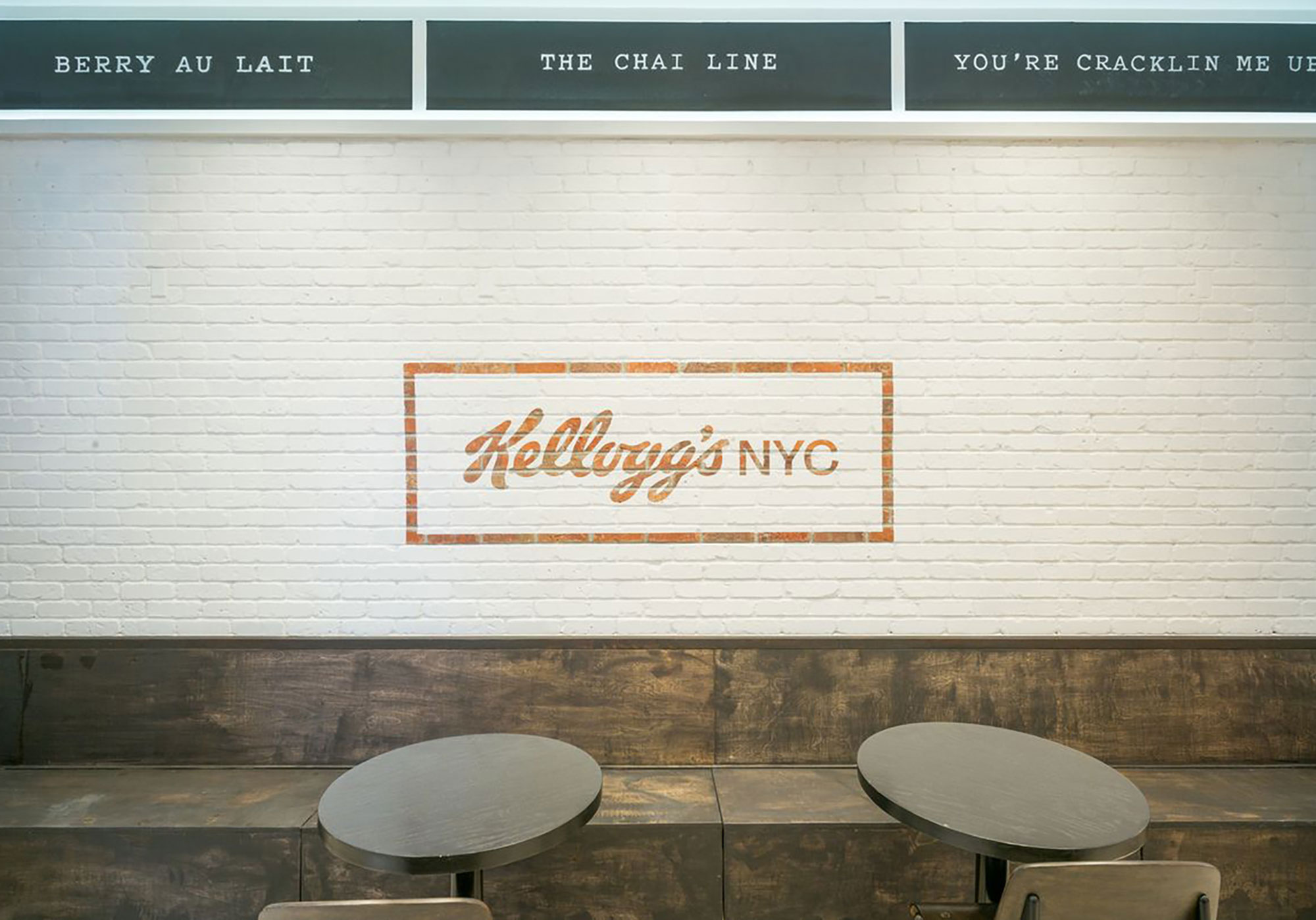 Wall with Kellogg's logo painted on it