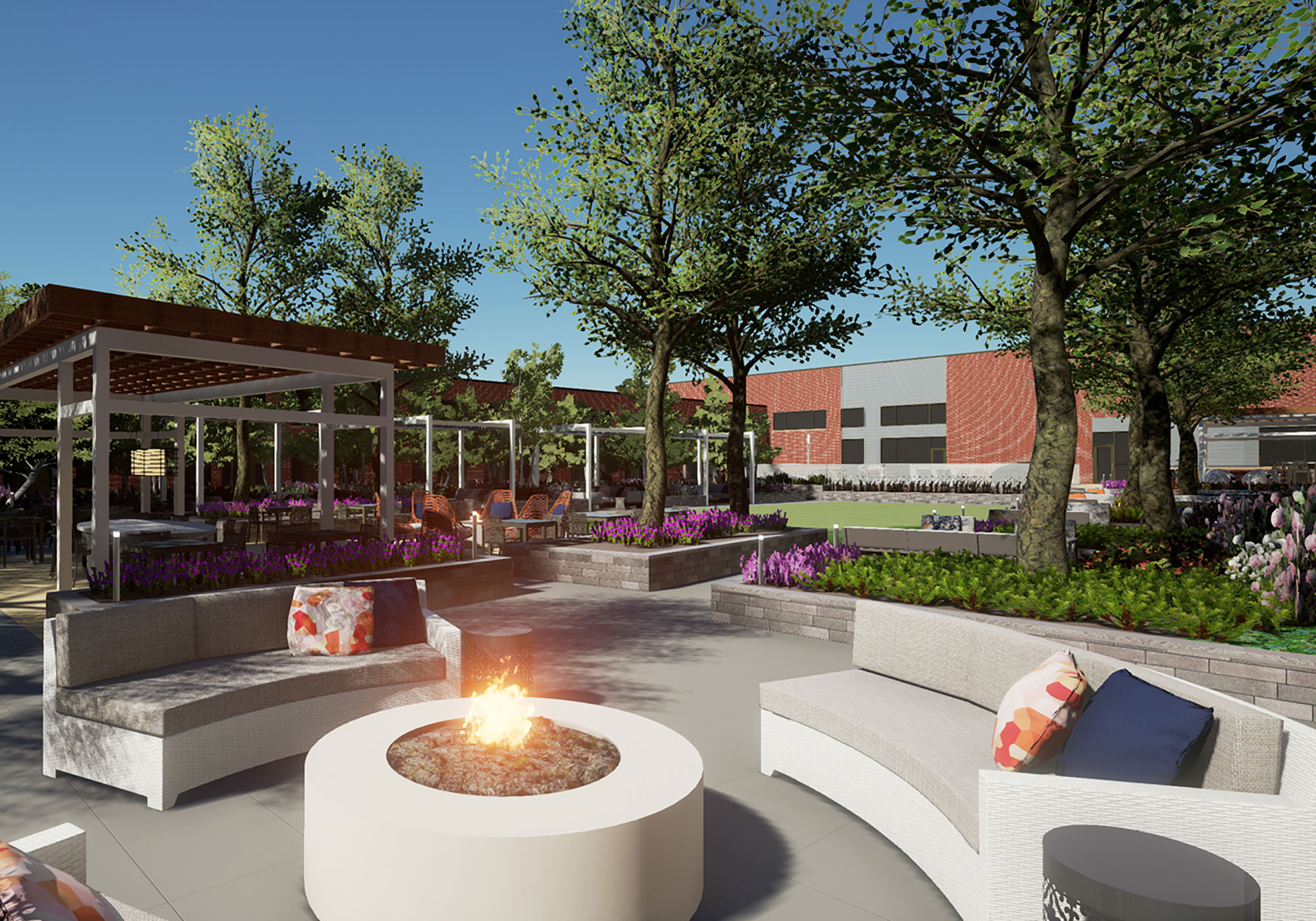 Rendering of outside common area