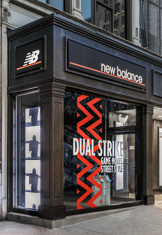Store exterior in urban environment