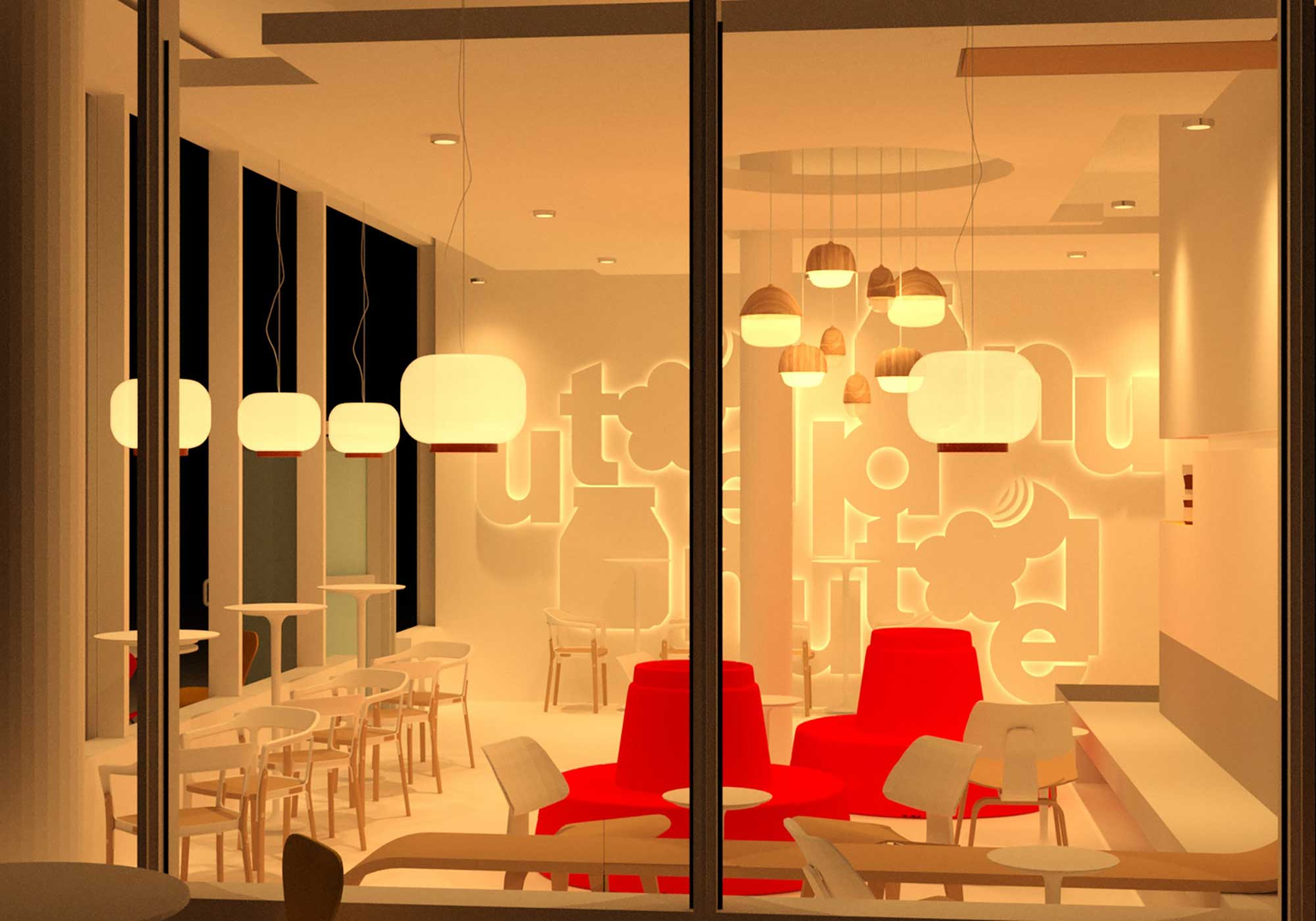 Rendering of the Nutella Cafe