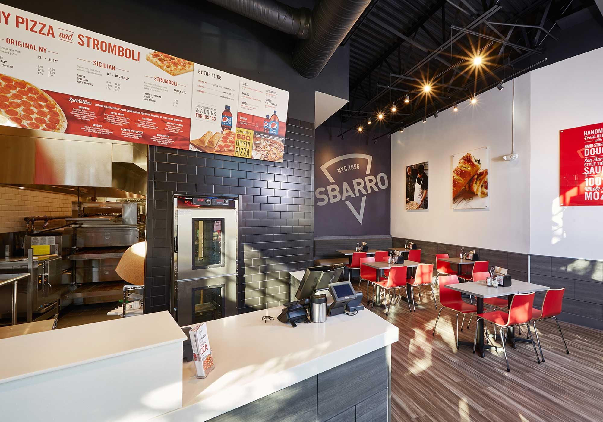 Interior Sbarro dining room
