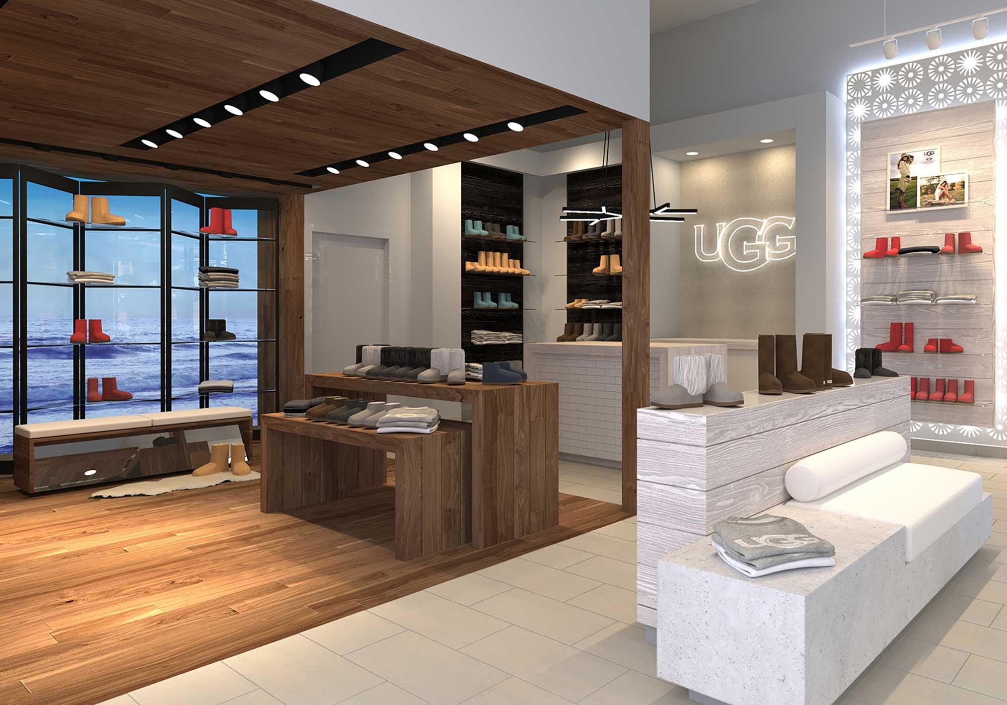 Rendering of store interior