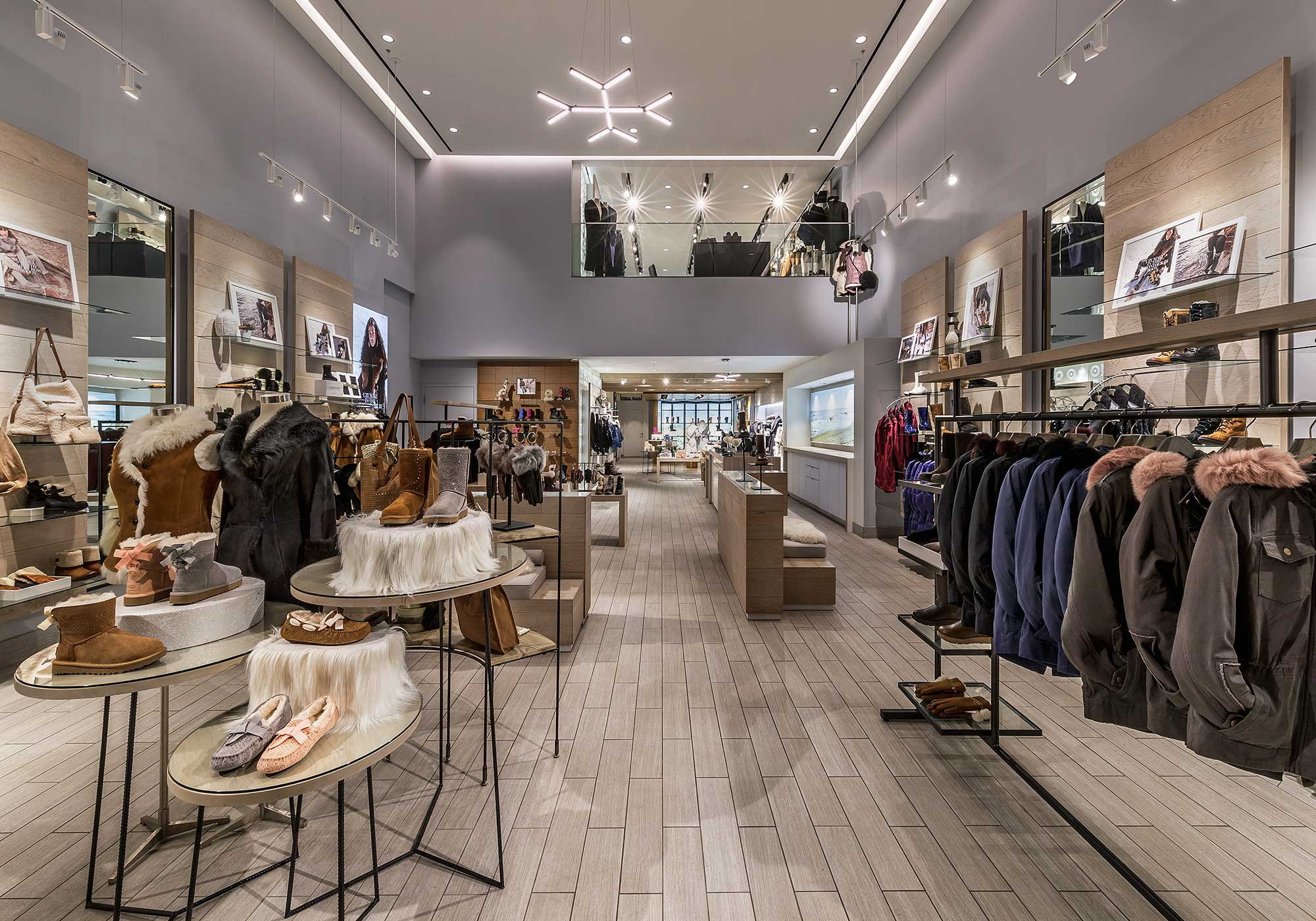 Displays in the flagship store
