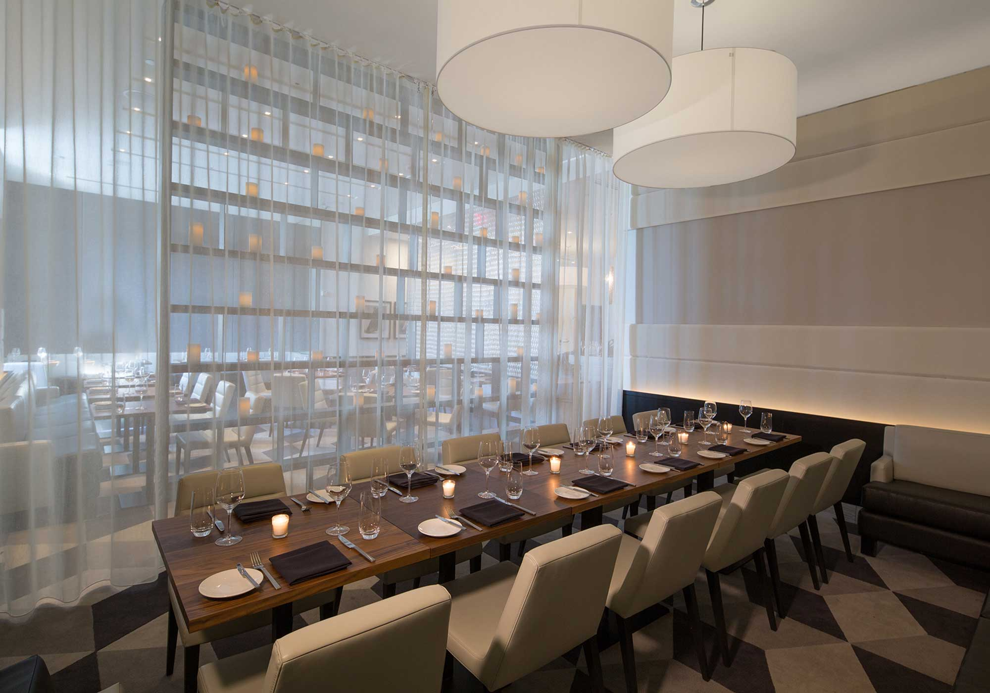 Private dining area